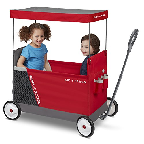 Radio Flyer Kid & Cargo with Canopy, Folding Wagon with 2 Versatile Seats, Red by Radio Flyer (Image #7)