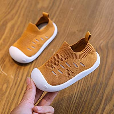 Voberry Kids Boys Girls Breathable Sneakers Lightweight Running Shoes Knit Slip On Air Cushion Walking Outdoor Shoes: Clothing