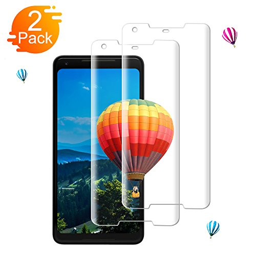 [2-Pack] Google Pixel 2 XL Screen Protector Live2Pedal - Bubble Free/9H Hardness/Anti-Fingerprint/Easy to Install/HD Clear/Tempered Glass Compatible Google Pixel 2 XL Screen Protector