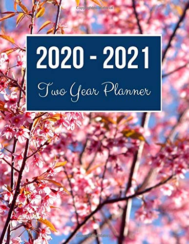 2020-2021 Two Year Planner: Prunus Cerasoides Cover