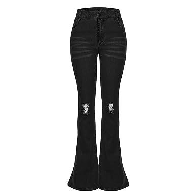 Pantalones Vaqueros de Mujer Anchos Pantalón Mujer Comodo de ...