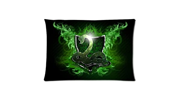 Pillowcase Harry Potter Snake Slytherin Custom Pillow Sham Queen Size Pillow Cushion Case Cover Two Sides Printed 2030 inches Inches