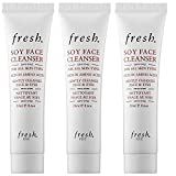 Fresh Soy Face Cleanser For All Skin Types .6 Ounce Mini Travel Size Lot Of 3