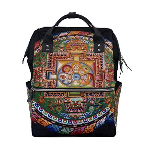 Diaper Bags Mandala Fashion Mummy Backpack Multi Functions Large Capacity Nappy Bag Nursing Bag for Baby Care for Traveling