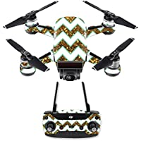 Skin for DJI Spark Mini Drone Combo - Glitzy Chevron| MightySkins Protective, Durable, and Unique Vinyl Decal wrap cover | Easy To Apply, Remove, and Change Styles | Made in the USA