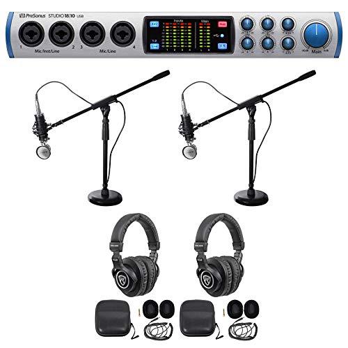 Presonus 2-Person Podcast Podcasting Bundle w/STUDIO 1810 Audio Interface ()