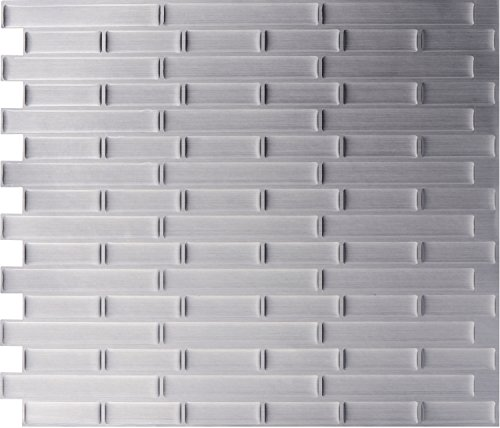 Dimensions Glass Tile Mosaics (Easy Peel & Stick 3D Mosaic Tile. Set of 4 Tile Sheets. 2.83 sf. WM-131C)