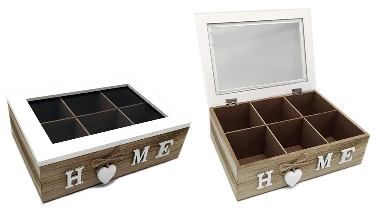 GYD Box Aufbewahrungsbox Verstauungskasten Holz Stock mit vielen Fächern