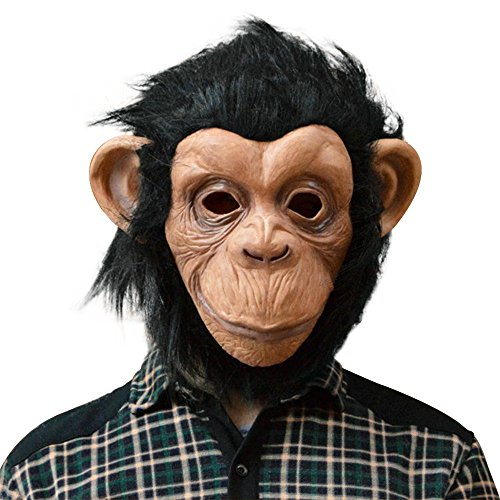 QTMY Latex Rubber Grotesques Ugly Horrible Apes Gorilla Monkey Mask with Hair for Halloween Party Costume (5)