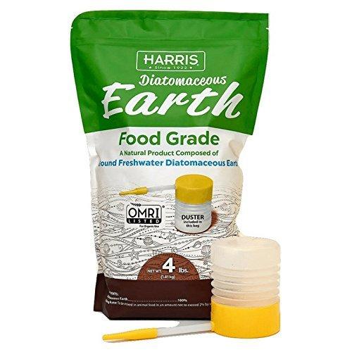Harris Diatomaceous Earth Food Grade  4Lb W  Free Powder Duster