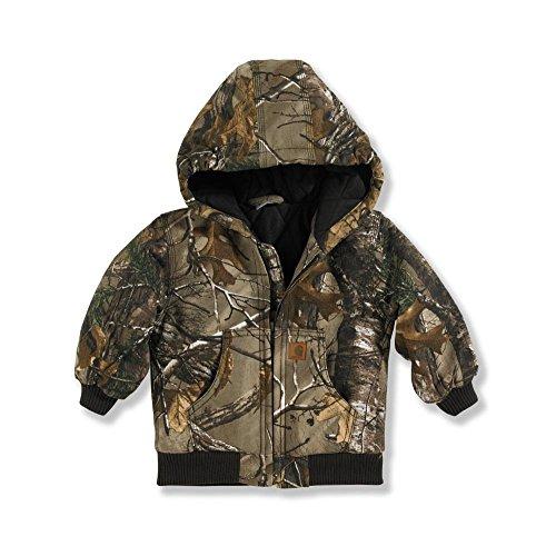 Carhartt Little Boys' Camo Active Jacket, Realtree Xtra, 3T