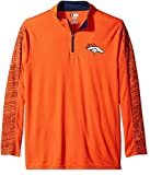 Denver Broncos Adult 2X-Large 2XL 1/4 Zip Pullover Shirt - Orange