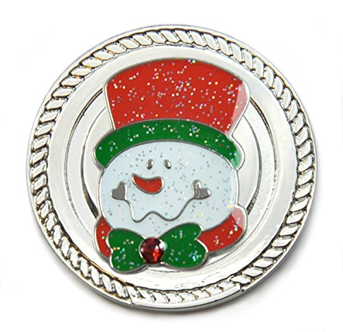 Snowman Golf Ball - Navika KICKS CANDY Snowman Glitzy Ball Marker with Swarovski Crystal and Round Shoe Ornament