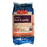 Arrowhead Mills Organic Red Lentils 16 oz (Pack of 24)
