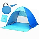 Leesentec Easy pop up Beach Tent Outdoor Tent Portable Cabana Sun Shelter Sun Shade Protective Anti Uv Sport Shelter Camping Shelter Beach Umbrella for Outdoors with Carry Bag (Blue)