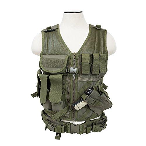 NcStar CTV2916G Tactical Vest, Green, M-XL