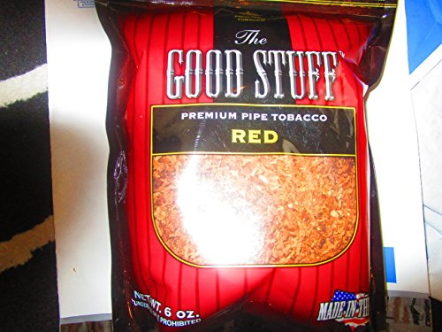 Mild Pipe Tobacco - Red habano757:GOOD STUFF (FULL FLAVOR) Holds 6 OZ. Bag Pipe Tobacco