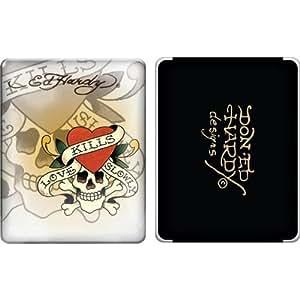 iPad 1 case - Ed Hardy Love Kills Slowly (White) 1st Generation iPad case for iPad1 (Oct 2010)