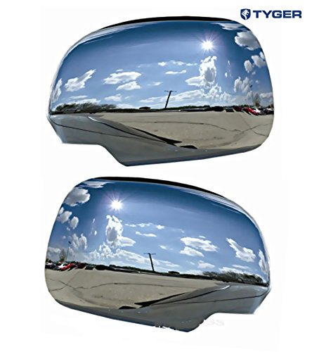 Tyger ABS Triple Chrome Plated A Pair Mirror Covers Fits 05-11 Toyota Tacoma/04-10 Sienna/04-09 Lexus -