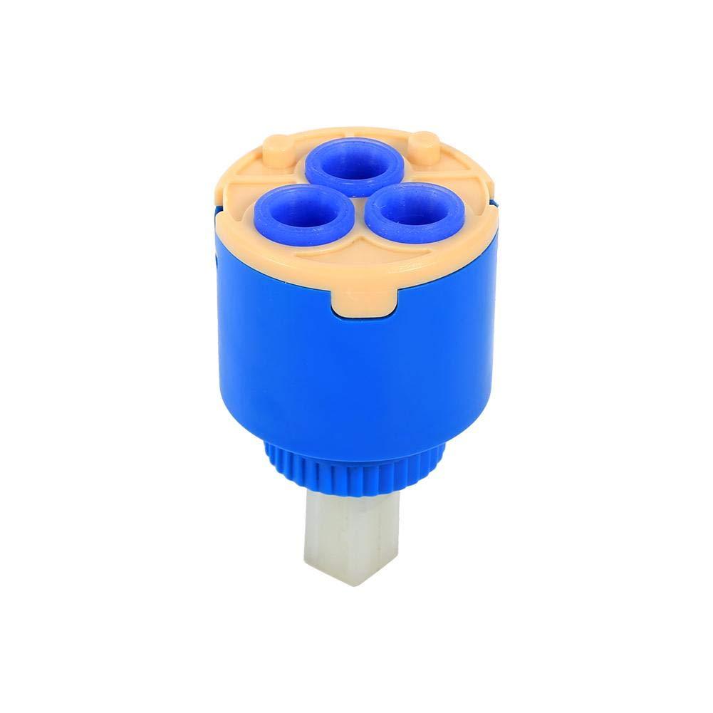 35 // 40mm PP plastica Ceramica Cartuccia Rubinetto Miscelatore Acqua Interno Rubinetto valvola di Controllo Blu Pratico e Durevole Sorand Cartuccia del Disco ceramico 35 Millimetri