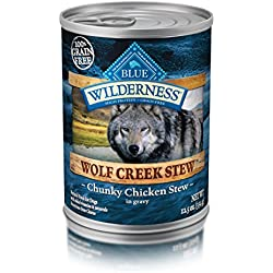 BLUE Wilderness Wolf Creek Stew Adult Grain-Free Chunky Chicken Stew in gravy Wet Dog Food 12.5-oz (pack of 12)