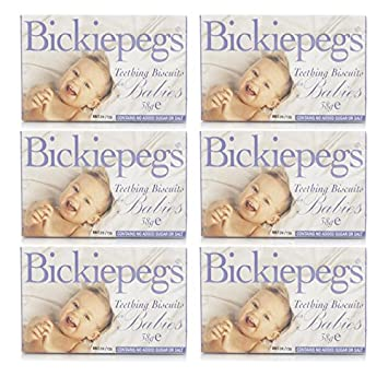 160089ea5 Bickiepegs Teething Biscuits for Babies 6 Pack  Amazon.co.uk  Baby