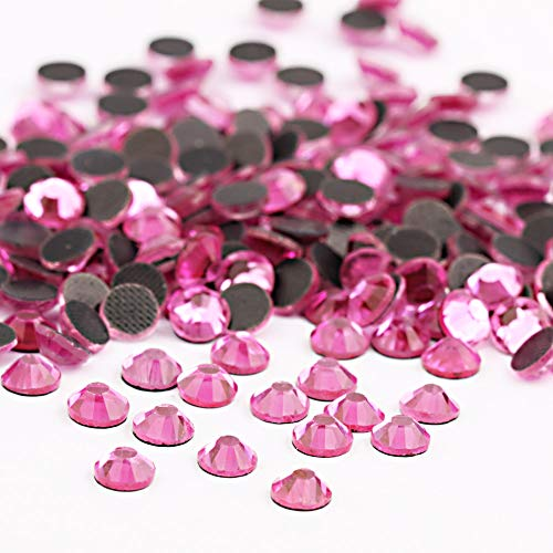 (Beadsland Crystal Hotfix Rhinestone,Machine Cut Stone 1440pcs/pkg (Dk.Pink, 3mm))