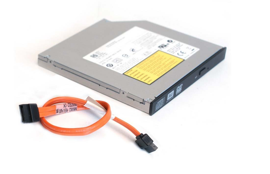 CD DVD Dual Layer Burner Writer Player Drive for Dell Optiplex Small Form Factor (SFF) 760, 780, 380, 960, 980, 580 Desktop Computer and SATA Cable