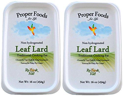 Leaf Lard — Premium, Non-Hydrogenated — Pure Pork Leaf Lard — Pasture Raised — Cooking & Baking — 16 oz (Pack of ()