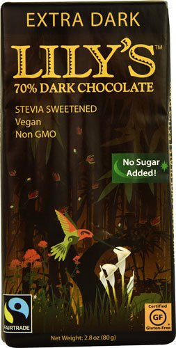 Lily's Dark Chocolate with Stevia Extra Dark -- 2.8 oz - 2 pc