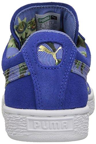 Puma Donna Camoscio Classico Fiorito Wns Sneaker In Stile Classico Abbagliante Blu / Bianco