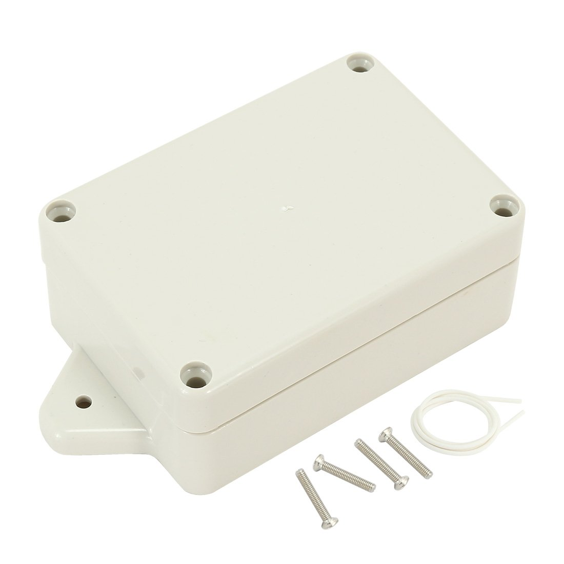 uxcell 3.27x2.28x1.3(83mmx58mmx33mm) ABS Junction Box Universal Electric Project Enclosure w Fixed Ear a17031600ux1100