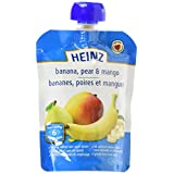 HEINZ Strained Banana, Pear & Mango Pouch, 6 Pack, 128ML Each