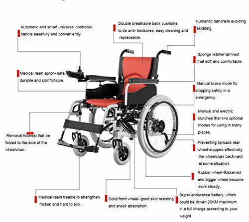 Accessbuy Electric Power Portable Wheelchairs For Disabled