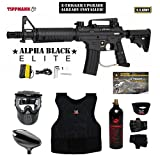 zephyr chest protector - Tippmann U.S. Army Alpha Black Elite Tactical w/ E-Grip Beginner Protective CO2 Paintball Gun Package - Black