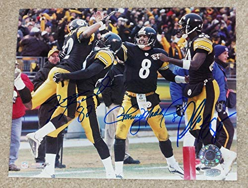 (ANTWAAN RANDLE EL Plaxico Burress & Maddox Signed PITTSBURGH STEELERS 8x10 photo - Autographed NFL Photos)