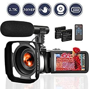 Camcorders Video Camera 18X Digital Zoom Volg Camera Full HD 1080P 30FPS Vlogging Camera Digital Camcorder with Two…