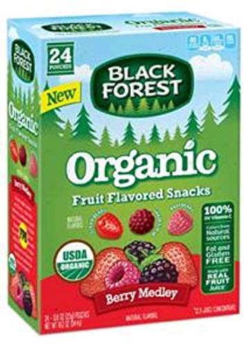 Black Forest Organic Fruit Flavored Snacks Berry Medley 24-.8 oz Pouches