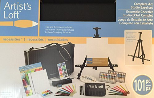 Complete Art Easel Portfolio 101-Piece collection Of Artist Materials Set By Artist's - Set Art Portfolio
