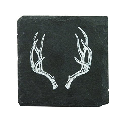 - Rustic Holiday Antler Slate Coasters by Twine