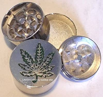 UNISHOW® Mini Herb Grinder Leaf Metal Magnetic Pollen Screen 3 Parts 40mm By Bubble Star from UNISHOW® By Bubble Star