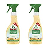 Frosch Natural Orange Glass & Multi-Surface All Purpose Cleaner Spray - 500ml (Pack of 2)