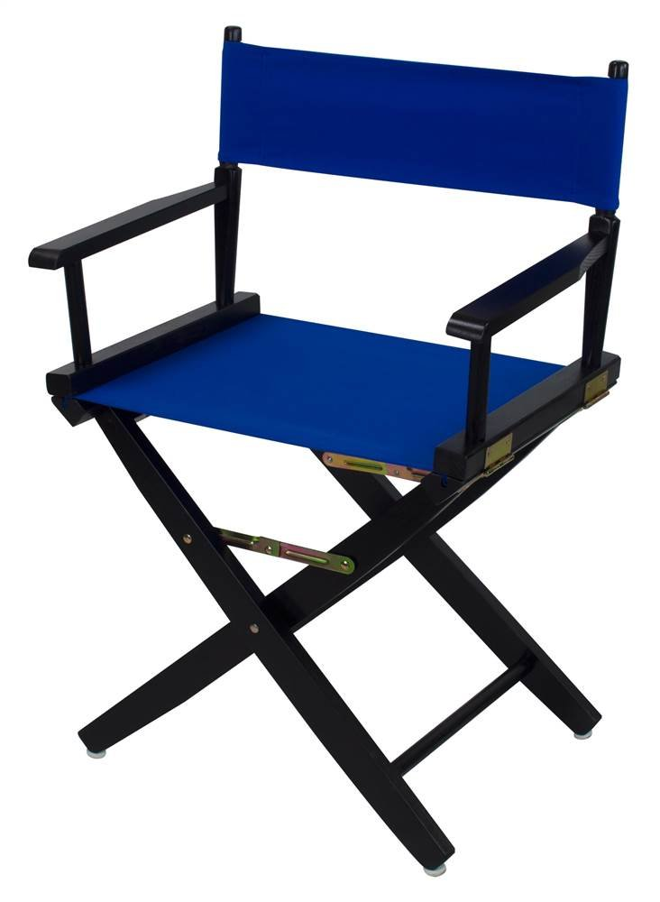 Extra-Wide Premium Directors Chair with Royal Blue Canvas