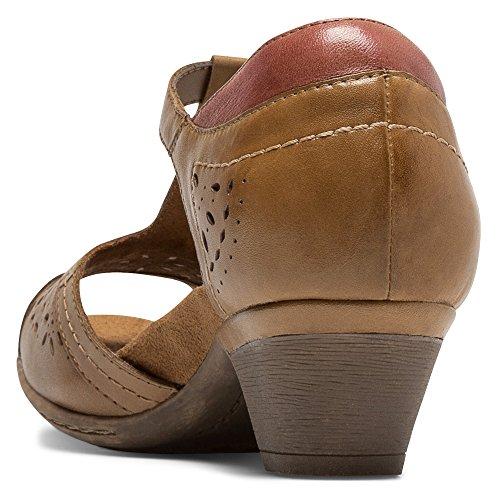 Rockport Cobb Hill de la mujer Alyssa–CH Heeled Sandal Bronceado