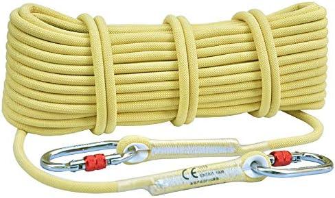 MEI XUクライミングロープ ケブラースタティックロープクライミングロープアウトドアセーフティロープ応急処置機器着用救助ロープクライミングロープクライミング機器、2スタイル、12サイズ (Color : 10.5mm, Size : 70M)