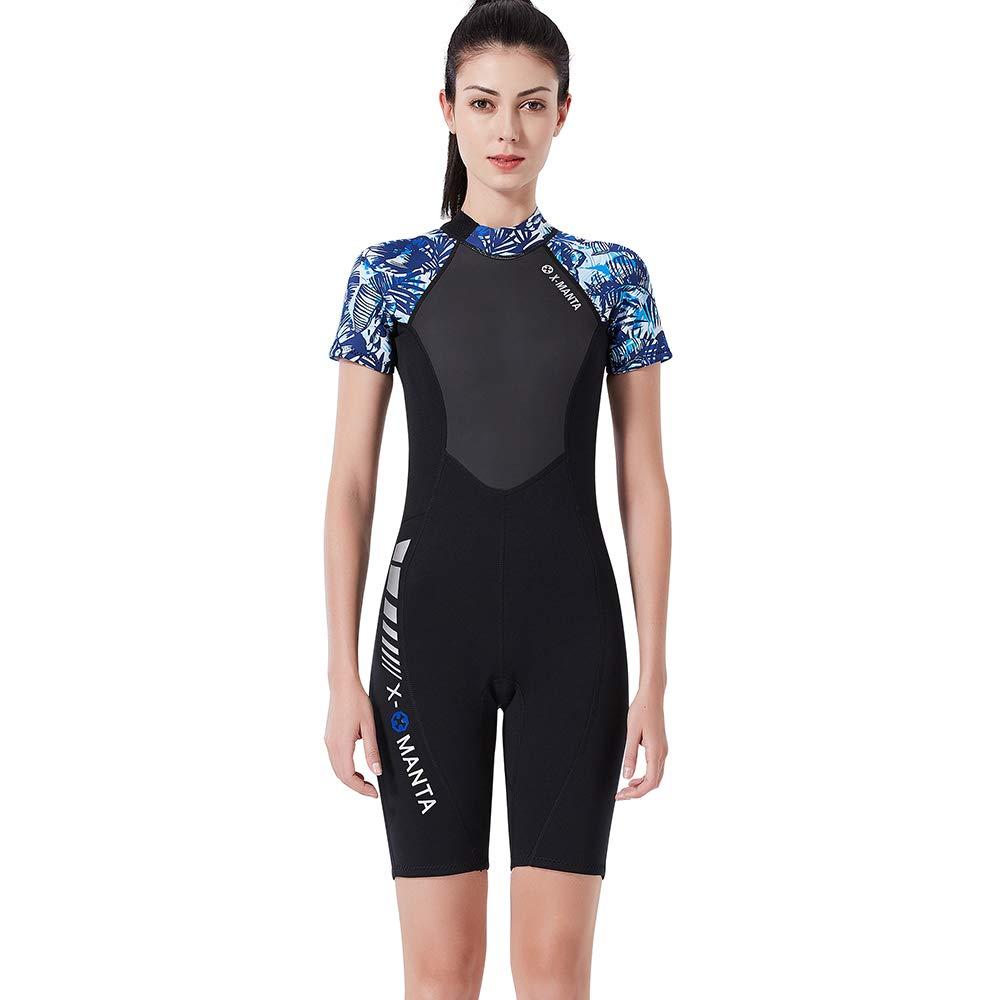 M BUY-TO Combinaison de plongée pour Femmes 1.5MM Snorkeling Diving Suit Surf Natation manche courte