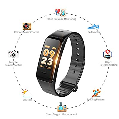 Luime Fitness Tracker, Fitness Watch with Heart Rate Monitor, IP67 Waterproof Color Screen Wristband with Calorie Counter Pedometer Sleep Blood Pressure/Oxygen Monitor for Kid Women Men