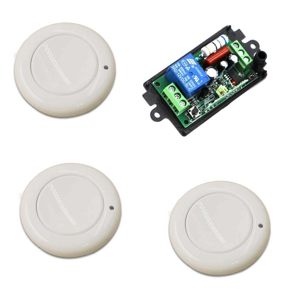 110V 315MHZ 315mhz 433mhz Wireless Remote Control Switch 110V 220V 1CH Relay Receiver Module and RF Wall Round Remote Controls  (color  110V 315MHZ)