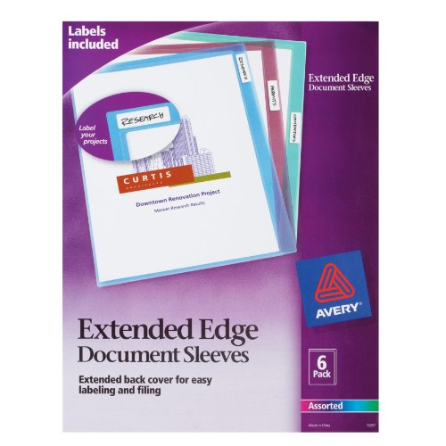 Document Sleeves, Assorted, Pack of 6 (72257) ()