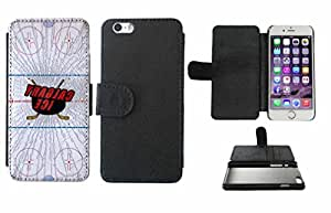 Calgary Ice Leather Phone Case Cover with Credit Card Holder Apple iPhone 6 (4.7 Inches)
